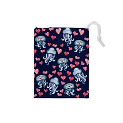 Jellyfish Love Drawstring Pouches (Small)