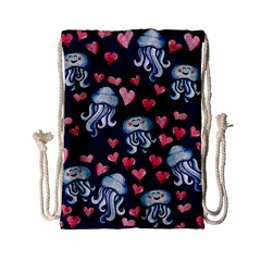 Jellyfish Love Drawstring Bag (small)