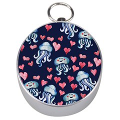 Jellyfish Love Silver Compasses