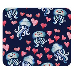 Jellyfish Love Double Sided Flano Blanket (small)