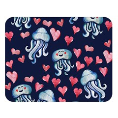 Jellyfish Love Double Sided Flano Blanket (large)
