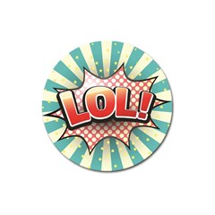 Lol Comic Speech Bubble Vector Illustration Magnet 3  (round)