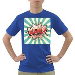 Lol Comic Speech Bubble Vector Illustration Dark T-Shirt