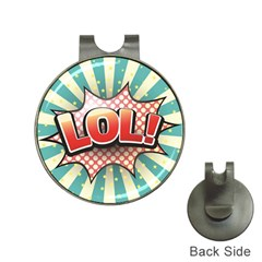 Lol Comic Speech Bubble Vector Illustration Hat Clips With Golf Markers