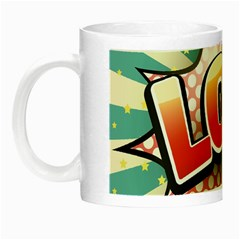 Lol Comic Speech Bubble Vector Illustration Night Luminous Mugs