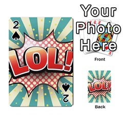 Lol Comic Speech Bubble Vector Illustration Playing Cards 54 Designs