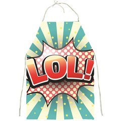 Lol Comic Speech Bubble Vector Illustration Full Print Aprons