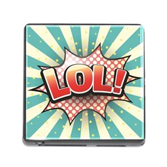 Lol Comic Speech Bubble Vector Illustration Memory Card Reader (square)