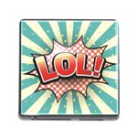 Lol Comic Speech Bubble Vector Illustration Memory Card Reader (Square) Front