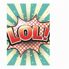 Lol Comic Speech Bubble Vector Illustration Small Garden Flag (two Sides)