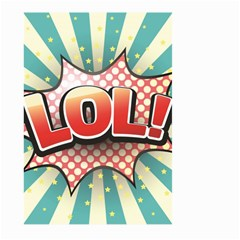 Lol Comic Speech Bubble Vector Illustration Large Garden Flag (two Sides)