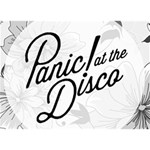 Panic At The Disco Flowers LOVE 3D Greeting Card (7x5) Back