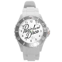 Panic At The Disco Flowers Round Plastic Sport Watch (l)