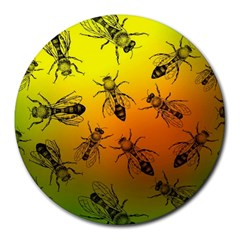 Insect Pattern Round Mousepads