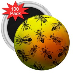Insect Pattern 3  Magnets (100 Pack)