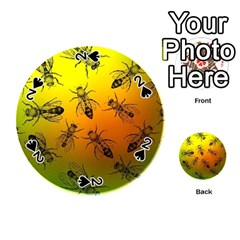Insect Pattern Playing Cards 54 (round)