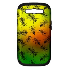Insect Pattern Samsung Galaxy S Iii Hardshell Case (pc+silicone)