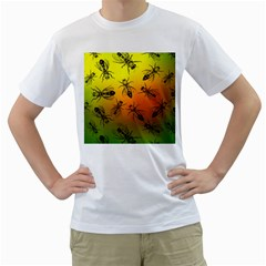 Insect Pattern Men s T Shirt (white)