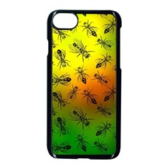Insect Pattern Apple Iphone 7 Seamless Case (black)