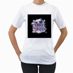 Panic At The Disco Art Women s T Shirt (white) (two Sided)