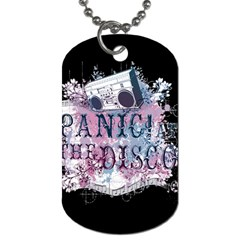 Panic At The Disco Art Dog Tag (two Sides)