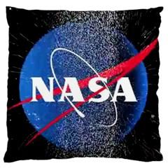 Nasa Logo Large Flano Cushion Case (one Side)