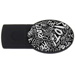 Panic At The Disco Lyric Quotes Retina Ready USB Flash Drive Oval (4 GB)  Front