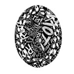 Panic At The Disco Lyric Quotes Retina Ready Oval Filigree Ornament (2-Side)  Back