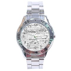 Panic At The Disco Lyrics Stainless Steel Analogue Watch