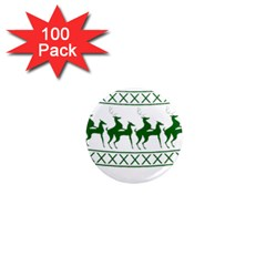 Humping Reindeer Ugly Christmas 1  Mini Magnets (100 Pack)