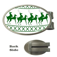 Humping Reindeer Ugly Christmas Money Clips (oval)
