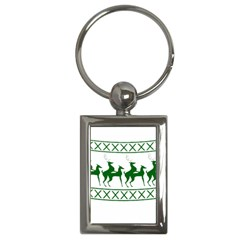 Humping Reindeer Ugly Christmas Key Chains (rectangle)