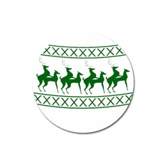 Humping Reindeer Ugly Christmas Magnet 3  (round)