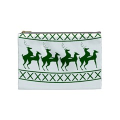 Humping Reindeer Ugly Christmas Cosmetic Bag (medium)