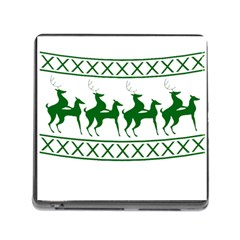 Humping Reindeer Ugly Christmas Memory Card Reader (square)