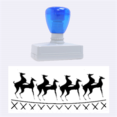 Humping Reindeer Ugly Christmas Rubber Stamps (large)
