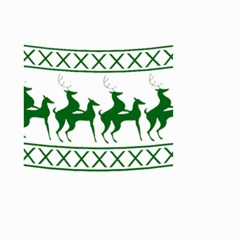 Humping Reindeer Ugly Christmas Small Garden Flag (two Sides)