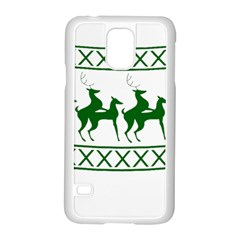 Humping Reindeer Ugly Christmas Samsung Galaxy S5 Case (white)