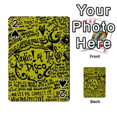 Panic! At The Disco Lyric Quotes Playing Cards 54 Designs