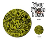 Panic! At The Disco Lyric Quotes Multi-purpose Cards (Round)  Back 10