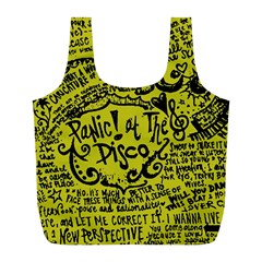 Panic! At The Disco Lyric Quotes Full Print Recycle Bags (l)