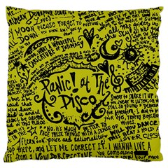 Panic! At The Disco Lyric Quotes Standard Flano Cushion Case (one Side)