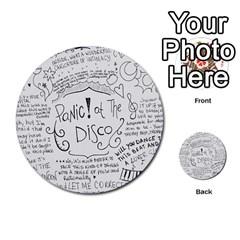 Panic! At The Disco Lyrics Multi Purpose Cards (round)