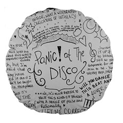 Panic! At The Disco Lyrics Large 18  Premium Round Cushions