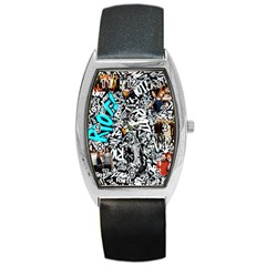 Panic! At The Disco College Barrel Style Metal Watch