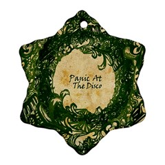 Panic At The Disco Snowflake Ornament (2 Side)