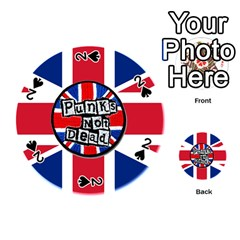 Punk Not Dead Music Rock Uk United Kingdom Flag Playing Cards 54 (round)