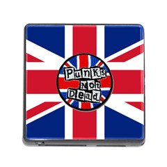 Punk Not Dead Music Rock Uk United Kingdom Flag Memory Card Reader (square)