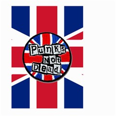 Punk Not Dead Music Rock Uk United Kingdom Flag Large Garden Flag (two Sides)