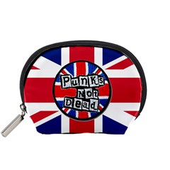 Punk Not Dead Music Rock Uk United Kingdom Flag Accessory Pouches (small)